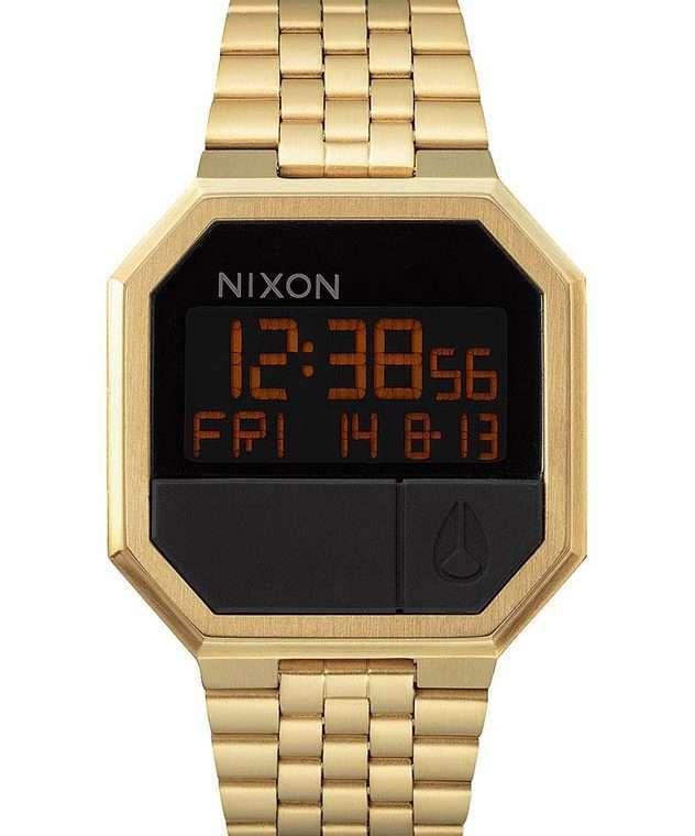 NIXON Re-Run Digital Gold Stainless Steel Bracelet