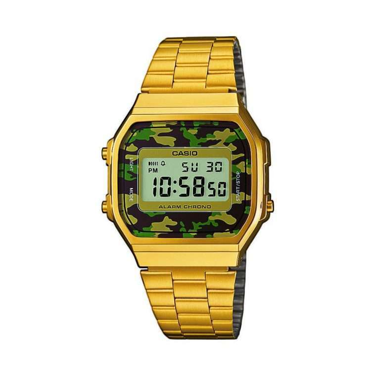 CASIO Collection Camouflage Gold Stainless Steel Bracelet