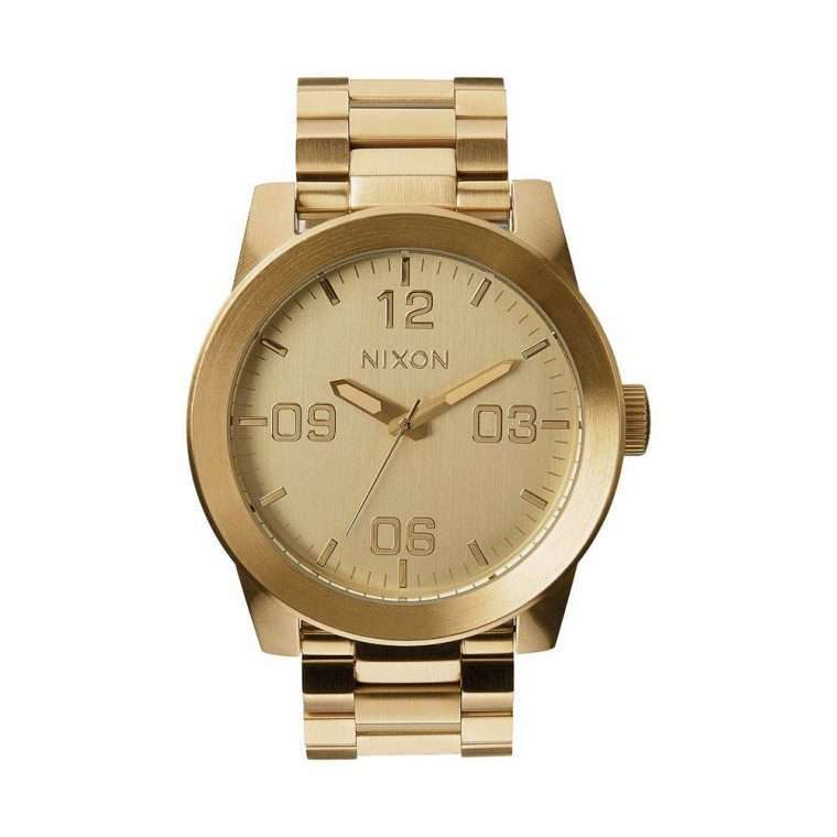 NIXON Corporal Gold Stainless Steel Bracelet