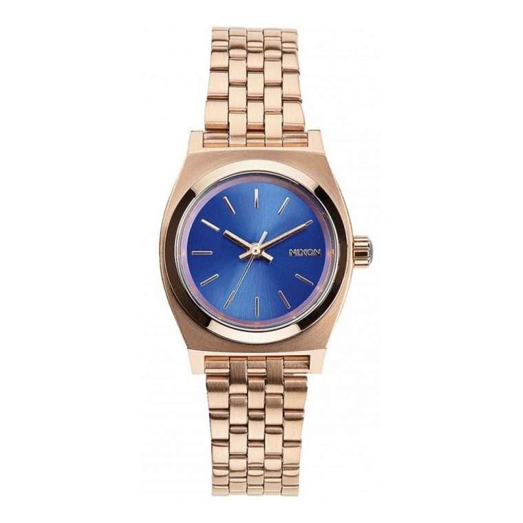 NIXON Small Time Teller Rose Gold Stainless Steel Bracelet
