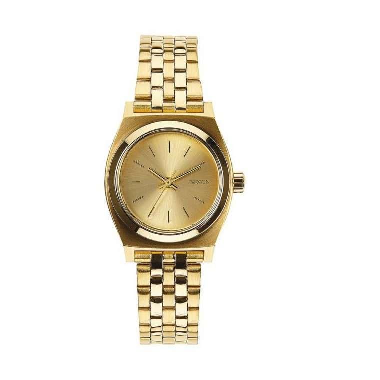 NIXON Small Time Teller Gold Stainless Steel Bracelet