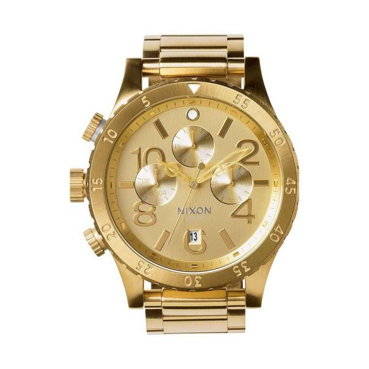 NIXON 48-20 Chrono Gold Stainless Steel Bracelet