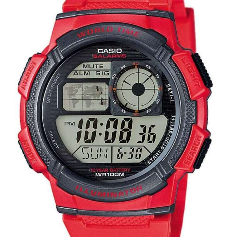 CASIO Collection Digital Red Rubber Strap.
