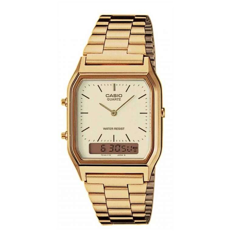 CASIO Collection Digital Gold Stainless Steel Bracelet