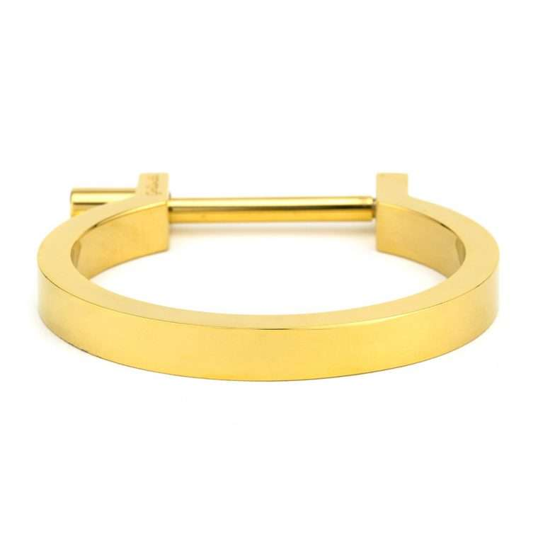 Goldsmith stainless steel cuff bar gold.
