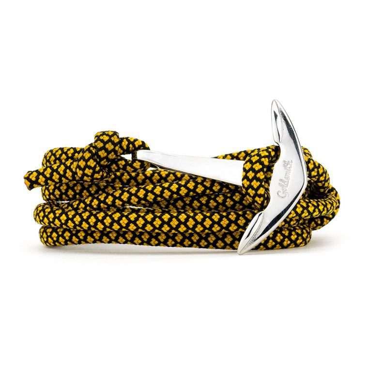 Κίτρινο μαύρο / ασημί stainless steel άγκυρα - anchor.