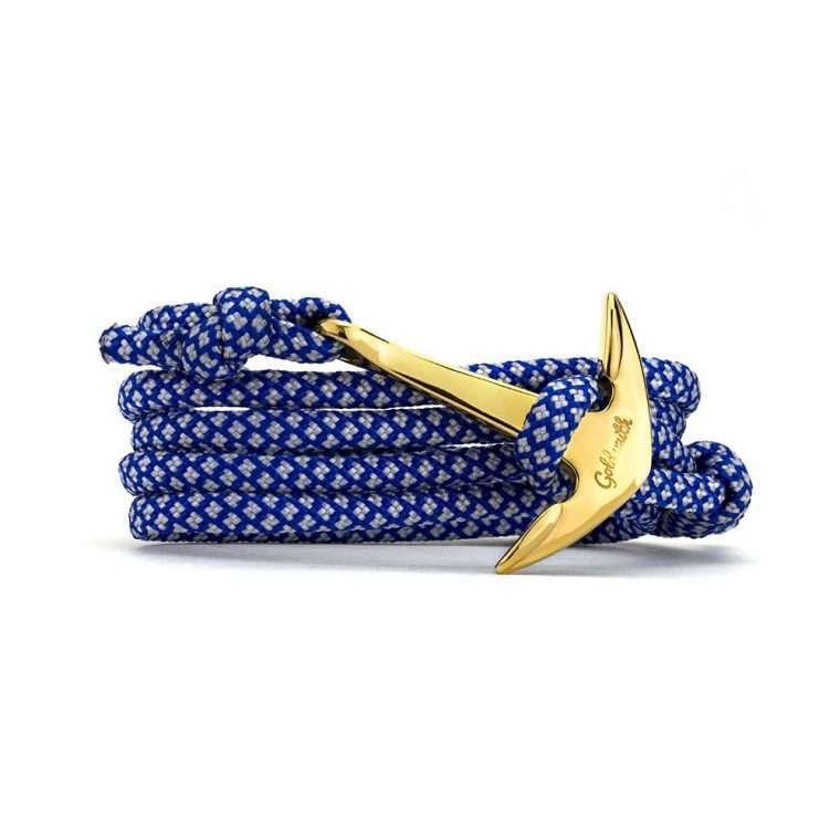 Μπλε λευκό / χρυσή stainless steel άγκυρα - anchor