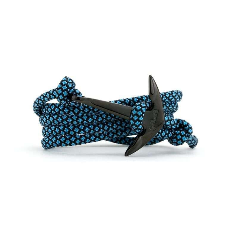 Γαλάζιο μαύρο / μαύρη stainless steel άγκυρα - anchor.