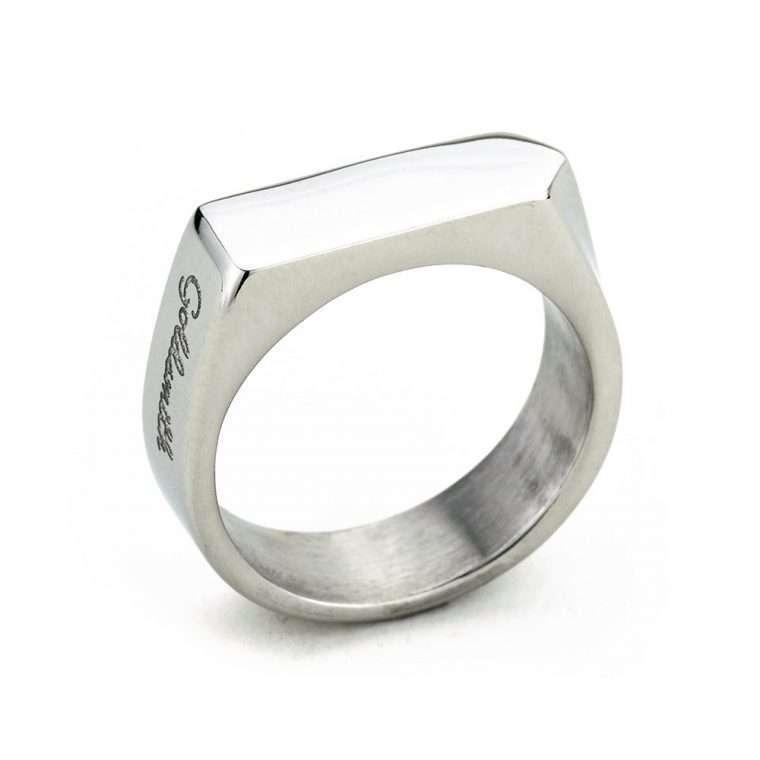 Ανδρικό Δαχτυλίδι focus stainless steel ασημί.