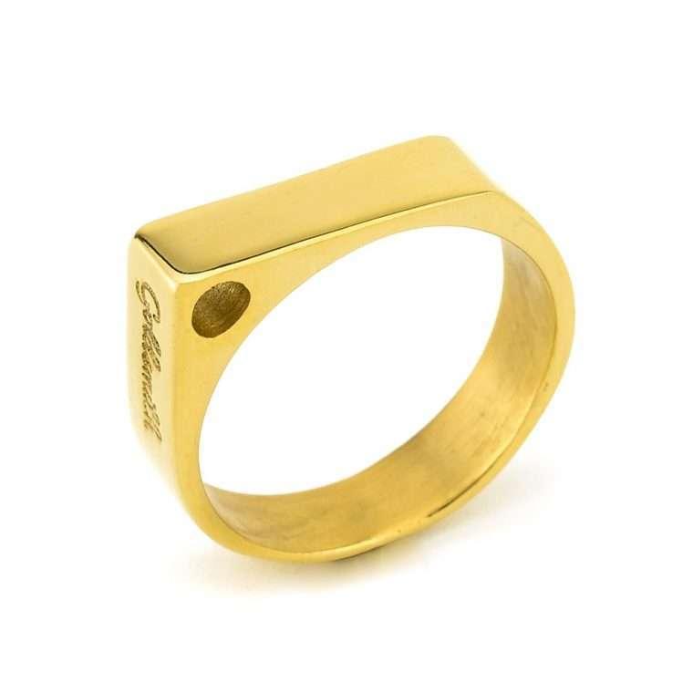 Ανδρικό Δαχτυλίδι Goldsmith's pyramid χρυσό.