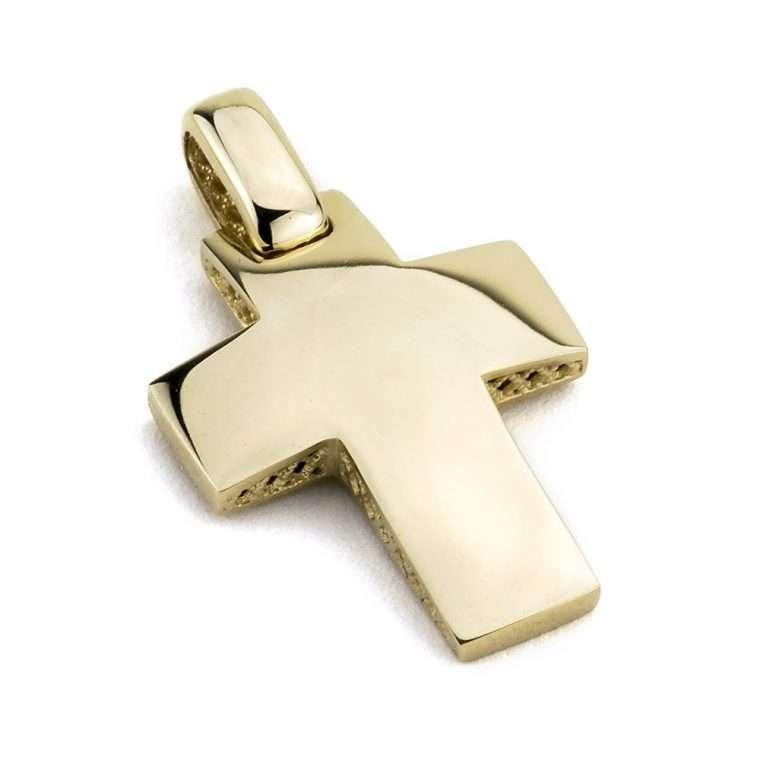 Χρυσός σταυρός βάπτισης για Αγόρι/Κορίτσι διπλής όψης 14 καράτια No.248