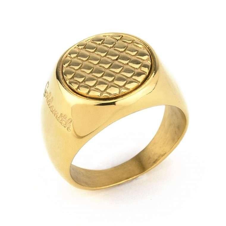 Ανδρικό Δαχτυλίδι Goldsmith's round stainless steel χρυσό