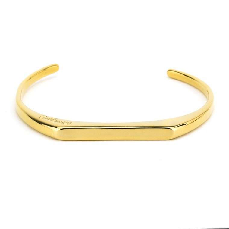 Χειροπέδα γυναικεία slim design stainless steel χρυσή.