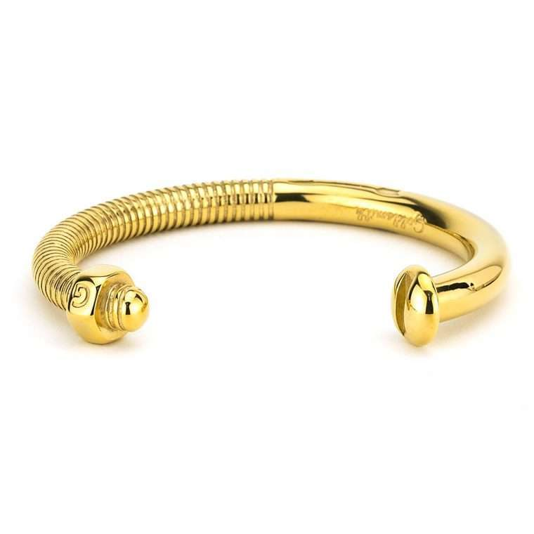 Screw Cuff Gold stainless steel unisex.
