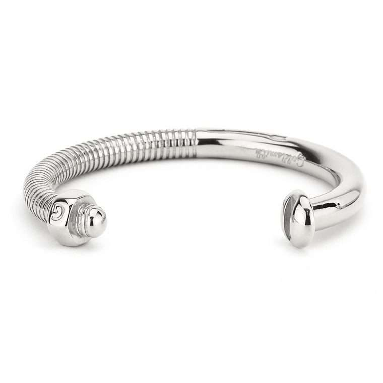 Screw Cuff Silver stainless steel unisex.