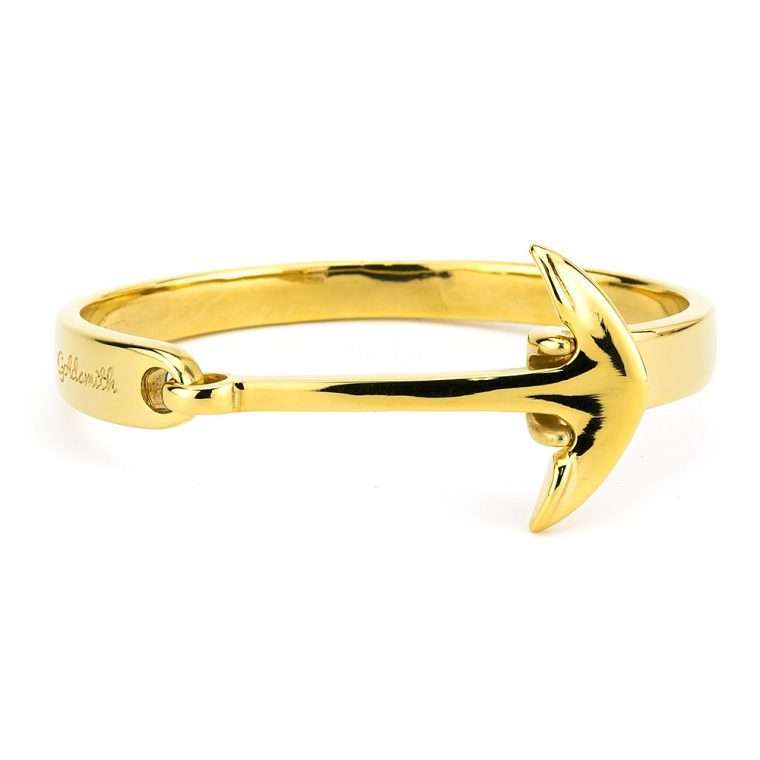 Anchor cuff gold for stainless steel men.