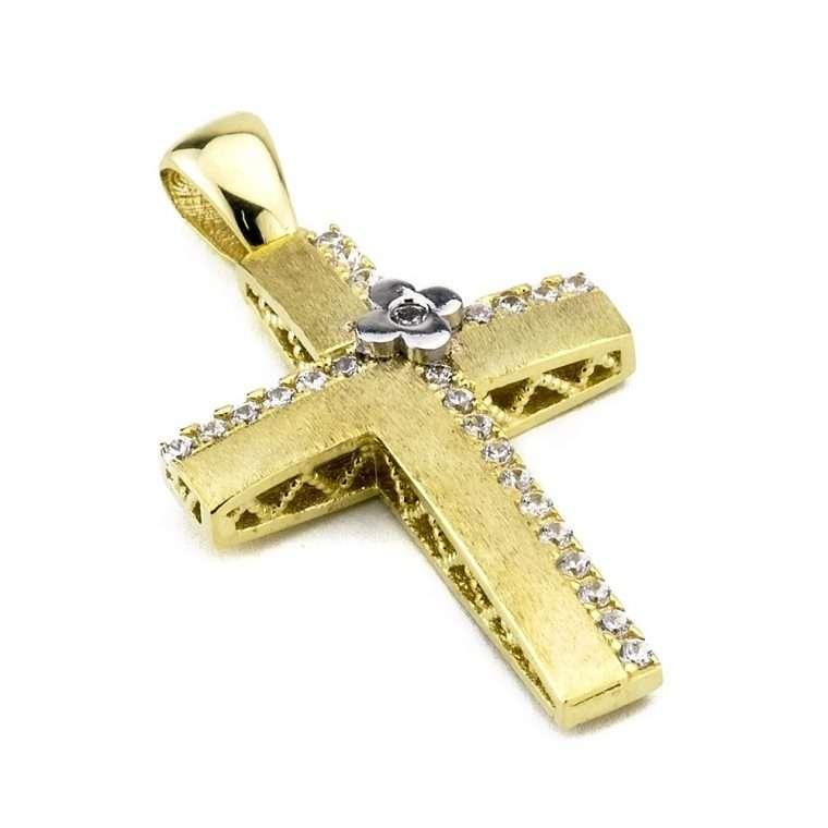 Χρυσός σταυρός βάπτισης για κορίτσι 14 καράτια. No.501