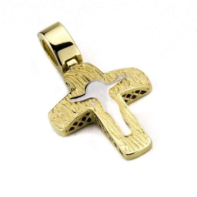 Χρυσός σταυρός 14 καρατιών Νο.509