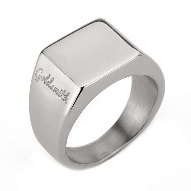 Ανδρικό Δαχτυλίδι Goldsmith's signet stainless steel ασημί.