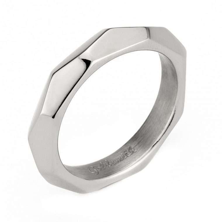 Ανδρικό Δαχτυλίδι Goldsmith's signet stainless steel ασημί Νο12.