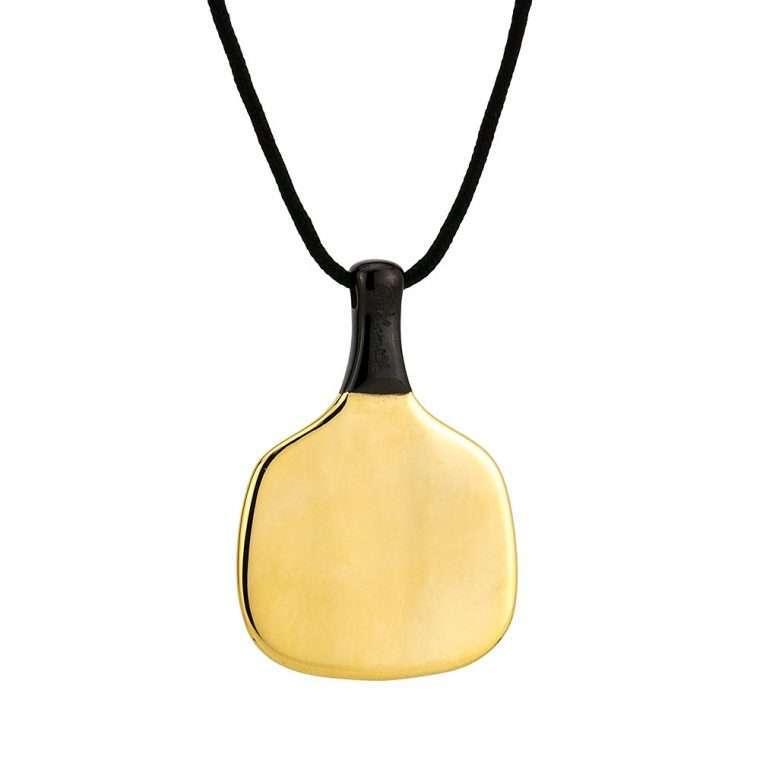 Ανδρικό Κολιέ Racket stainless steel χρυσό.