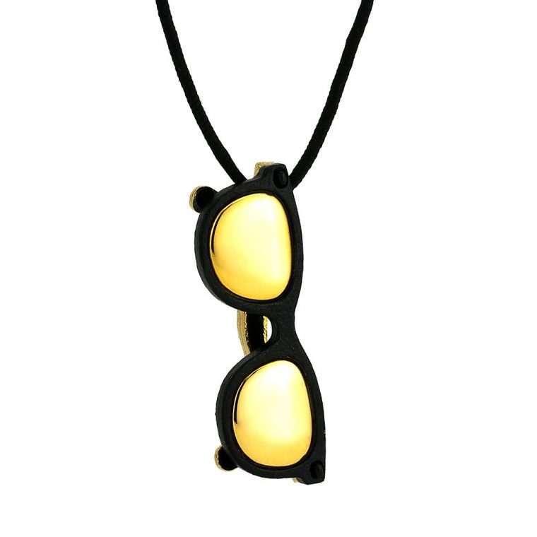 Ανδρικό Κολιέ Sunglasses stainless steel μαύρο.