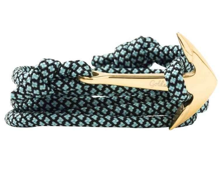 Τυρκουάζ μαύρο / χρύση stainless steel άγκυρα - anchor.