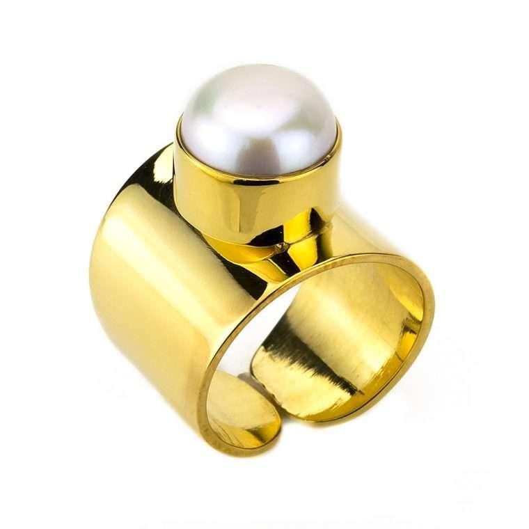 Γυναικείο Δαχτυλίδι με μαργαριτάρι