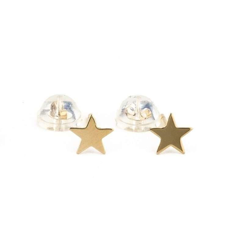 Χρυσά Σκουλαρίκια Αστέρια 9Κ Για Το Αφτί