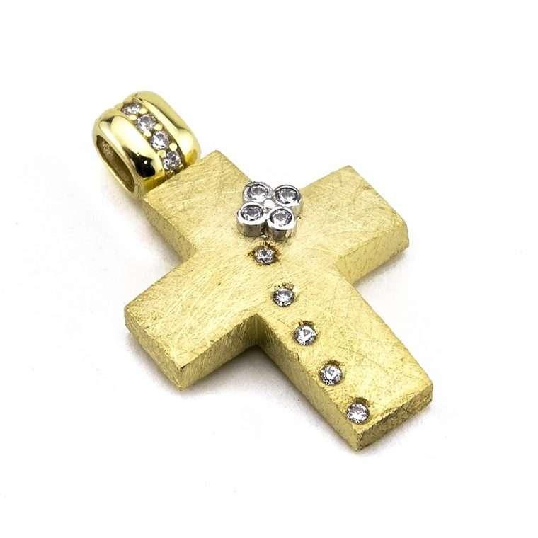 Χρυσός σταυρός βάπτισης για Κορίτσι 14 καράτια.  No .289