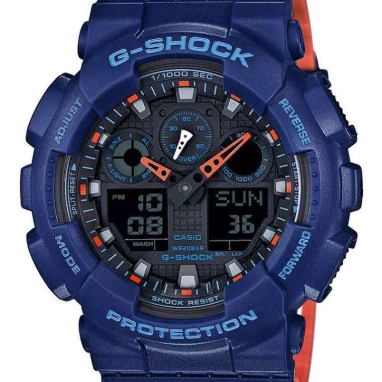 CASIO G-Shock Anadigi Blue Rubber Strap.
