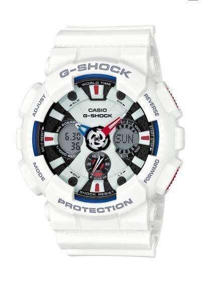 CASIO G-Shock - White case, with White Rubber Strap