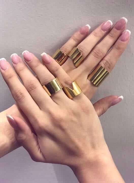 Γυναικείο Ασημένιο δαχτυλίδι σωλήνας Νο.3