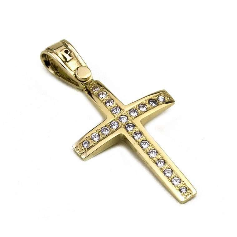 Σταυρός Χρυσός για Κορίτσι 14 καρατίων No.427