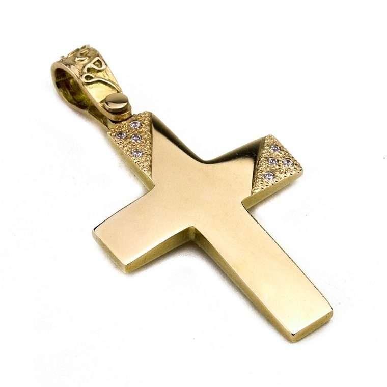 Σταυρός Χρυσός για Κορίτσι 14 καρατίων No.428