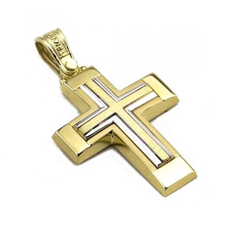 Σταυρός Τριάντος  Xρυσός για Αγόρι 14 καρατίων No.531