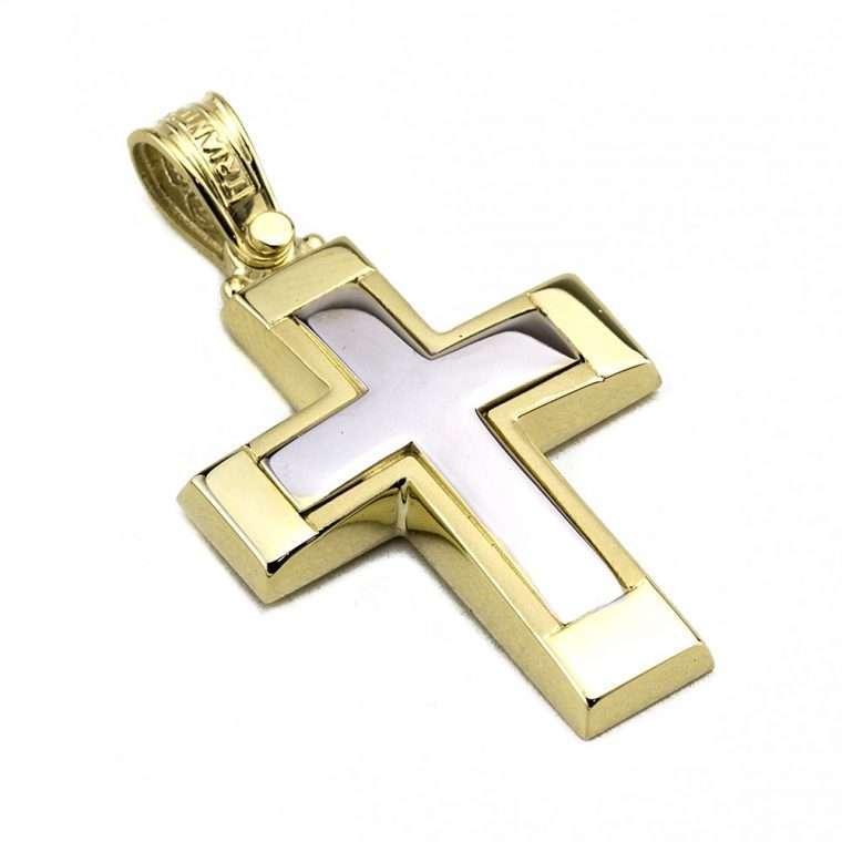 Σταυρός Τριάντος Χρυσός για Αγόρι 14 καρατίων No.532