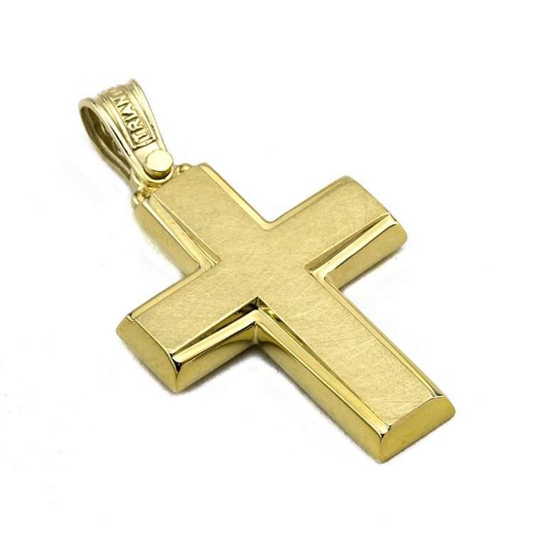 Σταυρός Τριάντος Χρυσός για Αγόρι 14 καρατίων No.533