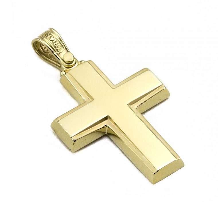 Σταυρός Τριάντος χρυσός για Αγόρι 14 καρατίων No.534