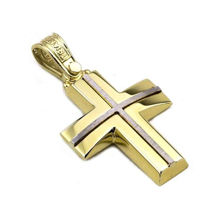 Σταυρός Τριάντος Χρυσός για Αγόρι 14 καρατίων No.546