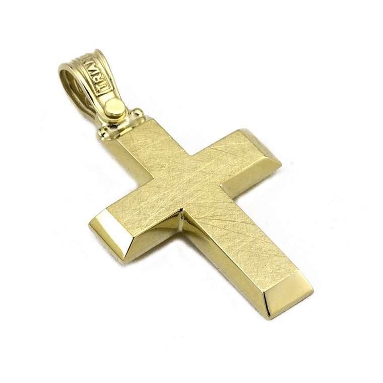 Σταυρός Τριάντος xρυσός για Αγόρι 14 καρατίων No.548
