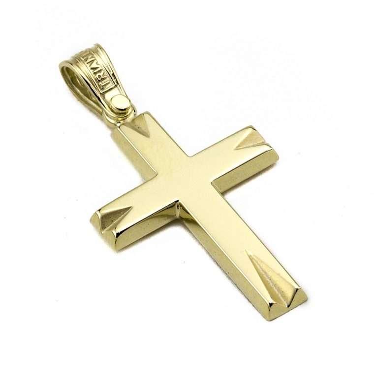 Σταυρός Τριάντος Χρυσός για Αγόρι 14 καρατίων No.550