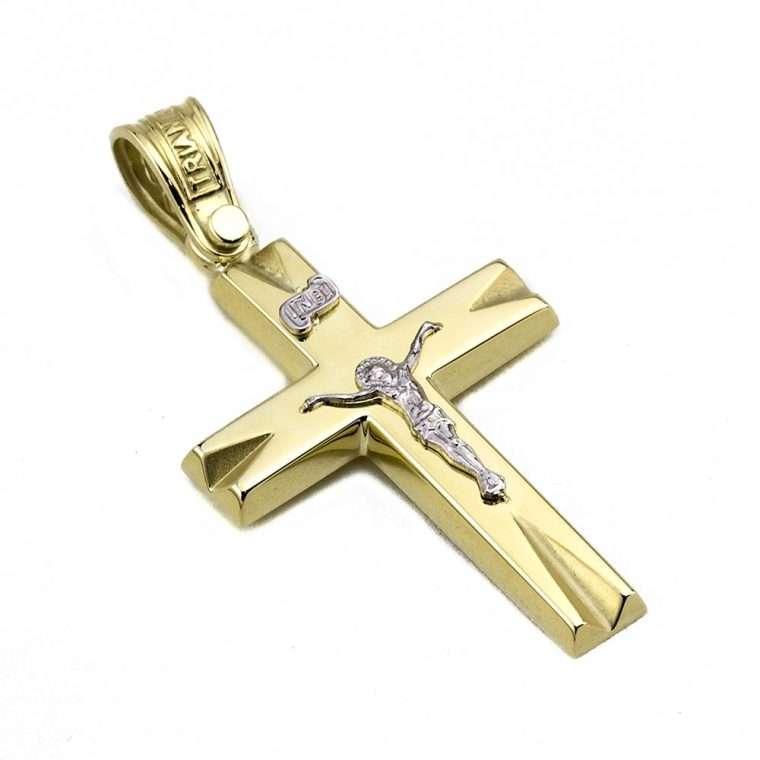 Σταυρός Τριάντος χρυσός για Αγόρι 14 καρατίων No.554