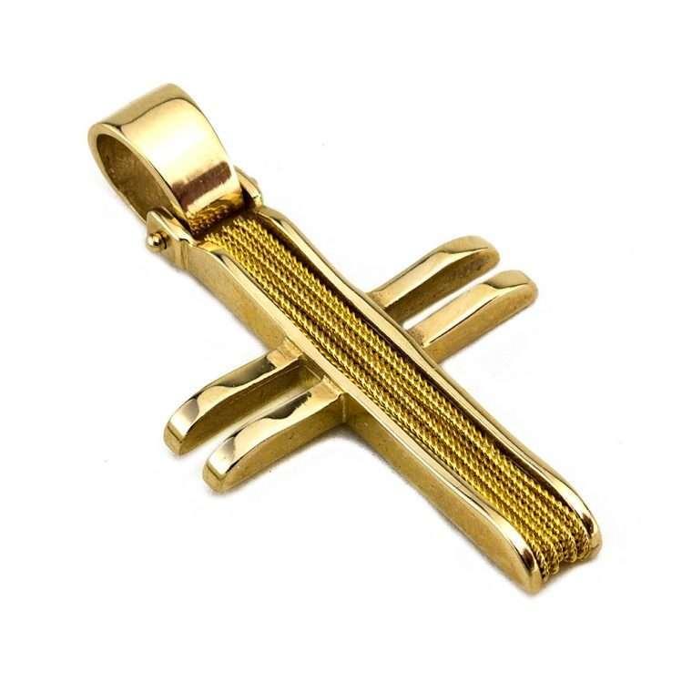 Σταυρός Χρυσός, συρματερός για Αγόρι.Νο.559