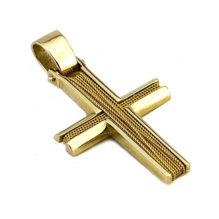 Σταυρός Χρυσός, συρματερός για Αγόρι.Νο.567