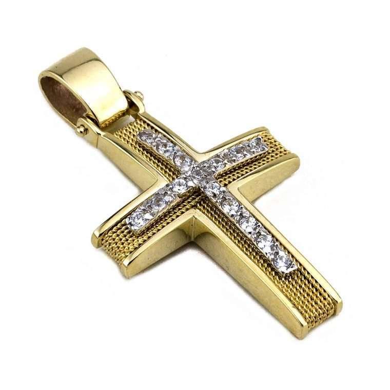 Σταυρός Χρυσός, συρματερός για Κορίτσι Νο.569