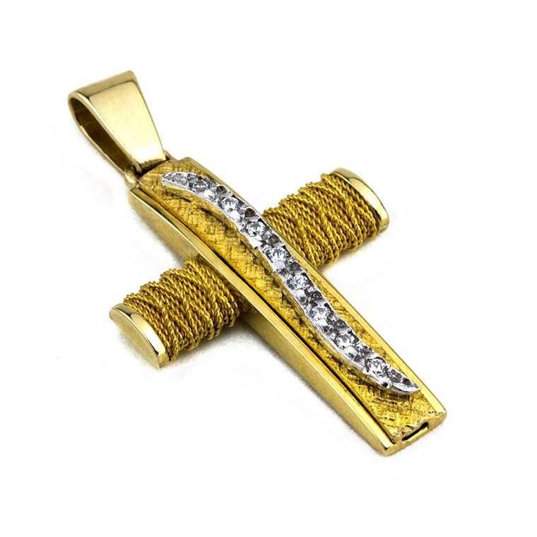 Σταυρός Χρυσός, συρματερός για Κορίτσι Νο.570