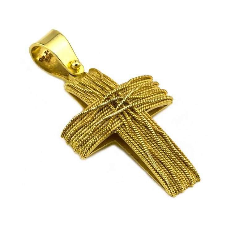 Σταυρός Χρυσός, συρματερός για Αγόρι/Κορίτσι Νο.582