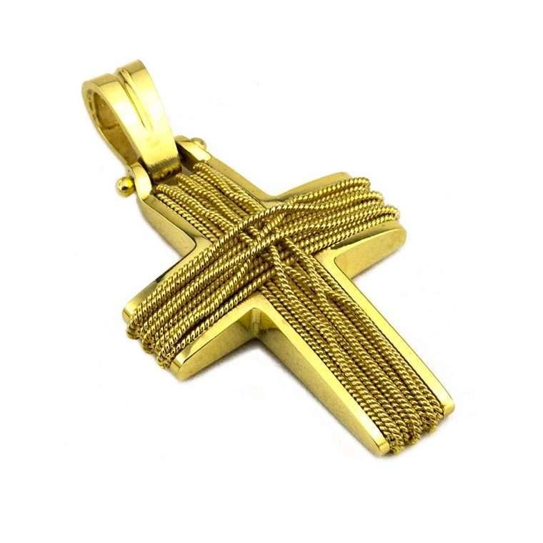 Σταυρός Χρυσός, συρματερός για Αγόρι/Κορίτσι Νο.583