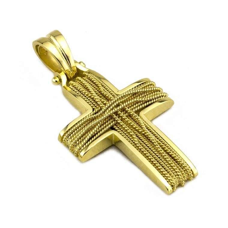 Σταυρός Χρυσός, συρματερός για Κορίτσι Νο.584